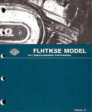 2017 Harley FLHTKSE CVO Ultra Limited Electra Glide Parts Manual Catalog 9942817