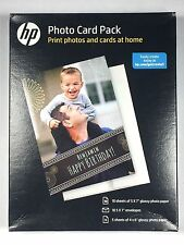 """HP Photo Card Pack SF791A 5x7"""" 4x6"""" Envelopes Glossy Photo Paper New Sealed (F)"""