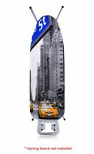 MODERN Thick Foam Back LUXURY Ironing Board Cover 100% COTTON Easy Fit NEW YORK