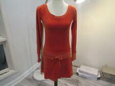 Juicy Couture orange velvet mini dress size S