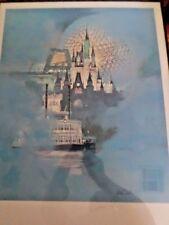 WALT DISNEY WORLD 15TH ANNIVERSARY MAGICAL DREAMS  art print Litho w/ COA Framed