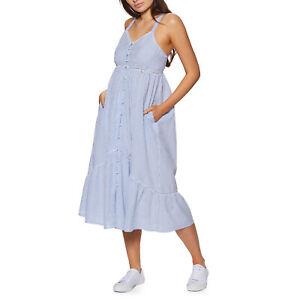 Superdry Daisy Midi Womens Skirt/dress Dress - Blue Stripe All Sizes