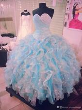 New Quinceanera Formal Prom Party Ball Gown Wedding Dresses Custom Size