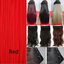US 100% Real as remy Hair Clip in Full Head Human Hair Extensions Extentions PS8