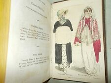 Ladies Monthly Museum Polite Repository of Amusement July-Dec 1805 COLOR PLATES
