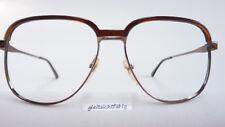 Vintagebrille Herrenfassung eckige Brille goldbraun Metall große Gläser Gr. M