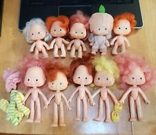 Strawberry Shortcake Vintage Lot of 10 Dolls Some Good Most Need TLC All Nude ++