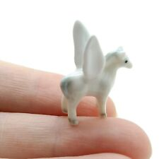 Pegasus Ceramic Figurine Animal White Tiny Miniature Statue - CMC022