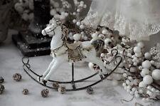Formano DEKO Figur Schaukelpferd Winterzeit 18cm Weihnachten