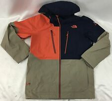 The North Face Men Free Thinker Jacket Steep Series Orange Navy Blue Beige S