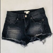 H&M Denim Shorts Size 2  Black New Without Tags