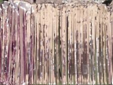 Metallic pink Fringed Garland Valance Party decoration 10 ft long x 15""