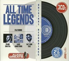 ALL TIME LEGENDS 3 CD BOX SET - FRANK SINATRA * LOUIS ARMSTRONG & NAT KING COLE