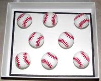 BASEBALL Sport Magnets - Set of 8 Handmade Decorative Memo Board