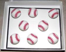 BASEBALL Sport Magnets - Set of 8 Handmade Decorative Memo Board Refrigerator