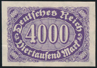 DR 1923, MiNr. 255 U, postfrisch, Kurzbefund Weinbuch, Mi. 150,-