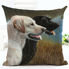 Labrador Black & Golden Dog Puppy Cushion Cover