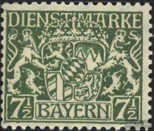 Bayern D25 postfrisch 1916 Staatswappen