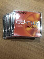SONY cd-rw 700MB 80min x 5 NEW Sealed