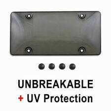 Tinted License Plate Tag Frame Cover Bubble Shield Protector for Auto-Car-Truck
