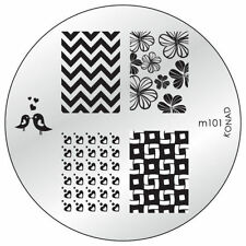 Konad Stamping Template M101 Nail Art NEW