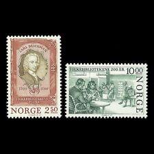 Norway 1985 - Public Libraries 200th Anniversary  Carl Deichman - Sc 867/8 MNH