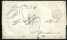 Venezuela 1848 folded letter Puerto-Cabello to Bordeaux