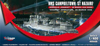 HMS CAMPBELTOWN (CHARIOT OPERATION) WWII ROYAL NAVY DESTROYER 1/400 MIRAGE RARE!