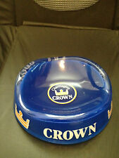Charrington Crown blue glass ashtray