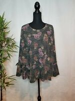 Womens Style and Co Floral Print Tops Size 2x