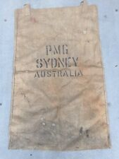 VINTAGE RARE PMG POST OFFICE BAG SYDNEY 1800s GPO MAIL STAMP