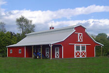 Barn Building Plans/Books 120+ Cattle Barns Horse Hog Sheep Farm Prepper DVD CD