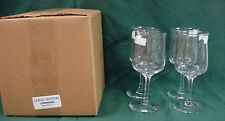 Lenox Crystal DIMENSION Wine Stems (4) SET OF FOUR NEW in BOX!