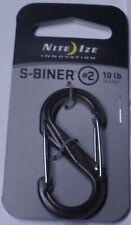 Nite Ize S-Biner Plastic Size # 2 Translucent Smoke SBP2-03-06T NEW