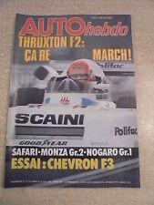 AUTO hebdo n° 107/ 6 avril 1978 Essai CHEVRON F3. THRUXTON F2