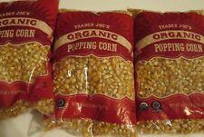 Trader Joe's Organic Popping Corn 3 bags @ 28 oz each
