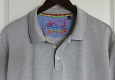 Robert Graham, Men's 2XL, S/S Polo Shirt, Gray w/ Multi-color Accents