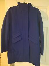 JCrew $350 Cocoon coat Italian stadium-cloth wool Sz 10 Brunswick blue j5536 NWT