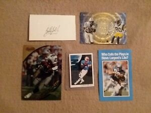LOT OF 5, N.F.L. HALL OF FAMERS AUTOGRAPHS