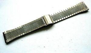Bracelet acier 19 mm band strap steel run montre vintage chrono TYPE Seiko N 70