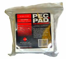 Pec Pad 4 x 4 inch Lint Free Wipes, 100 Pack,  Photographic Solutions