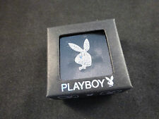 Playboy Adjustable Bunny Rings - Platinum or Gold Plate + Swarovski Crystals