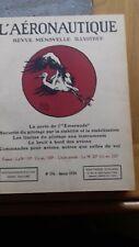 L'aeronautique Revue mensuelle Année 1934 complete