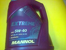 5l MANNOL EXTREME 5w40 5w-40 Olio Motore Olio 5 litri API SN/CF ACEA a3/b4 MB 229.3