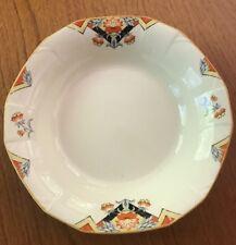 "Alfred Meakin Princess ""MARIGOLD BALMORAL"" - 7 1/2"" Soup Bowl - Orange & Black"