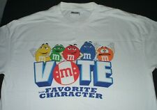 M&M's Vote For Your Favorite Character T Shirt Size L Chocolate Candy
