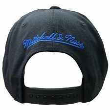 17eaf15e78235 Mitchell   Ness Philadelphia 76ers Black Cropped XL Adjustable Snapback Hat