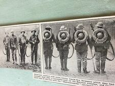 m4-9 ephemera 1918 picture ww1 captured german flamethrowers