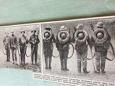 m4-9 ephemera 1918 picture ww1 captured german flamethrowers