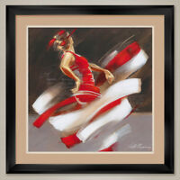 """35W""""x35H"""" PASSION II by KITTY MEIJERING - DOUBLE MATTE, GLASS and FRAME"""